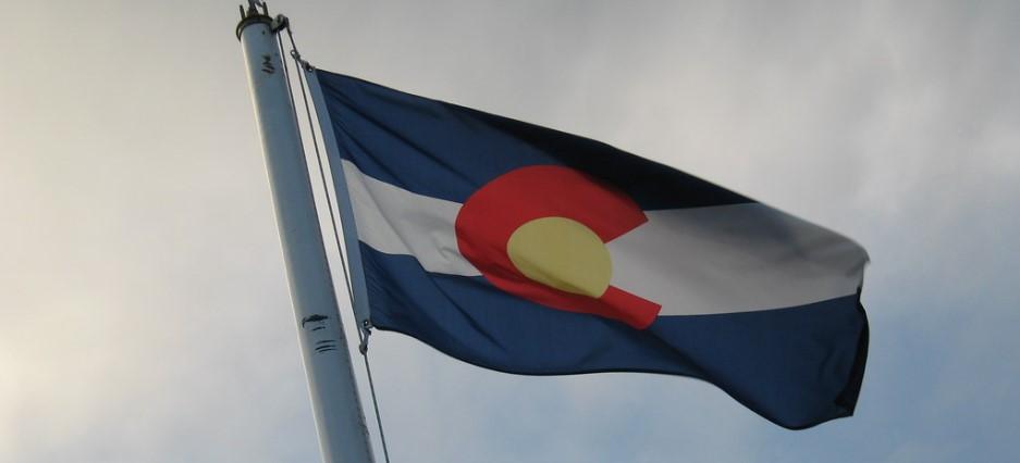 Colorado Flag Waving